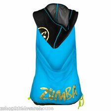 """Zumba Fitness """"Oh My Hoodness"""" Hoodie Top Drawstring Flowy ~Light Mesh Pullover"""