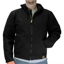 Mens Jacket Carhartt 100733 Washed Duck Quilt Lined Black Assorted Sizes New