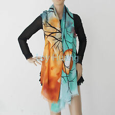 New Hot Women Large Cashmere Fashion Scarf Moon-Tree For Ladys
