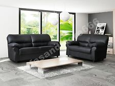 BRAND NEW - CANDY - SOFA SET 3&2 SEATER - BROWN OR BLACK - FABRIC FAUX LEATHER