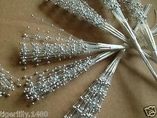 SFM368 Bridal spray of Pearl Beads on wire stem, great for weddings & crafts