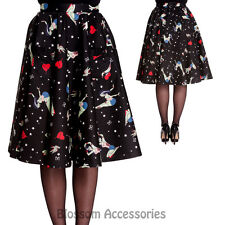 RKP74 Hell Bunny Forever Dead Circle Zombie Halloween Skirt Rockabilly Pin Up