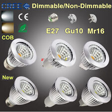 Dimmable 6W 9W 12W GU10 MR16 E27 COB Luci A LED Lampadina Faretto Basso Consumo