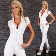 Women's Fitted Drawstring Jumpsuit Overall - S/M, L/XL