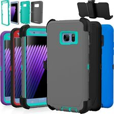 Heavy Duty Hybrid Hard Camo Case Cover with Clip for Samsung Galaxy Note 3 4