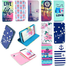 New Flip Paint Wallet Leather Pouch Phone Case Cover Stand for Mobile Cell Phone