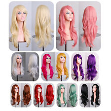 Fashion Color Long Slightly Curly Wavy Full Cosplay Wigs Costume/Anime/Party Wig