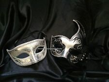 Pair for Mens and Womens Masquerade mask New Year Eve Christmas Dress up Party