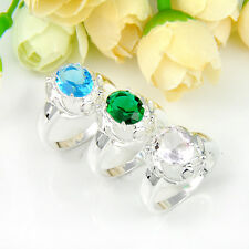 Buy Two Get One Free! Fantastic Multi Topaz Gems Sterling Silver Plated Ring 8 9