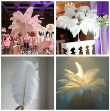Wholesale, 10-100 pcs high quality natural white  ostrich feathers 15-60 cm