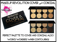 MAKEUP REVOLUTION COVER AND CONCEAL PALETTE CONTOURING HIGHLIGHTING CONCEALER