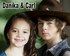Your picture on a custom T shirt with Carl Grimes/Chandler Riggs ! Walking Dead