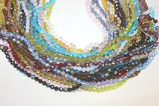 Glass Beads - 6 mm- Round Faceted -32 Facets-Five (5) Strands (About 330 Beads)