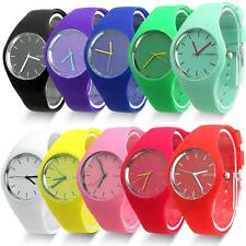 Womens Jelly Silicone Band Dial Quartz Analog Cute Sports Wrist Watch IDUK