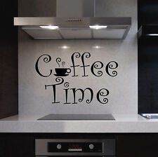 Kitchen Vinyl Wall Lettering Quotes Decals Coffee Time Cup Breakroom Sticker