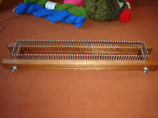 """14"""" Fully Adjustable Knitting Board / Loom - Any Gauge - Cottage Looms"""