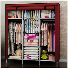New Portable Folding Clothes Closet Wardrobe Armoires Storage Rack Garment Hot