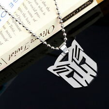 Marvel Super Hero Transformers Steel Chain Pendant T-shirt Sweater Necklace DX