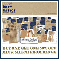 Docrafts Papermania BARE BASICS Paper Card Craft Kraft Full Range (Wedding)
