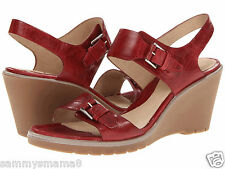 NEW ECCO Adora 2 Strap Sandals Size 39, 40, 41 Brick Red Leather Shoes $140