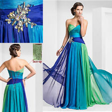 2015 Sweetheart Chiffon Formal Party Evening Long Prom Dresses Size:6-16