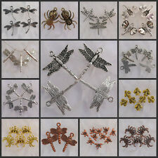 Ea0123-Na2878 Wholesale Tibetan Silver/Antiqued bronze insect charms