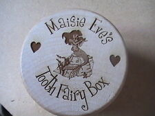 Engraved Wooden Tooth Fairy Box and Intricately Cut Tooth Certificates