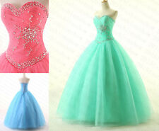 New2015 Quinceanera Dresses Ball Gown Tulle Long Prom Dress Formal Evening Gowns