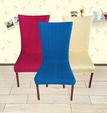 4 Colors - SUREFIT Stretch Tall Dining Chair Cover - Machine Washable Bhd011
