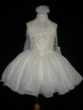 New Infant Girl,Toddler & Little Girl Pageant Formal Party Dress Ivory 2,3,4,5,6
