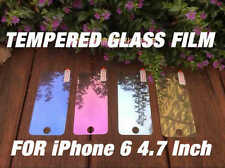 Coloured Tempered Glass Mirror Effect Screen Protector Film For iPhone 6 4.7""