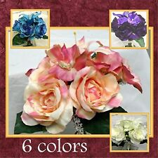 """~6 COLORS~ 12"""" Rose & Lily Bouquet Wedding Silk Flowers"""