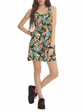 Women's Junior's Disney Lilo and Stitch Floral Dress Tank Graphic Sundress