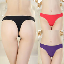 Hot Sexy Womens Ice Silk Panties Shorts Knickers Brief Thong Underwear Lingerie