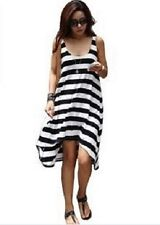 New Fashion Woman Stripe Nylon Bikini Cover up Summer Beach Dress Sarong BS22