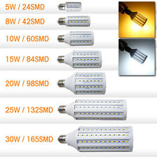 110/220V E27 10W 5630 SMD 60 LEDs Corn Bulb Warm Cool white light 800lm lamp