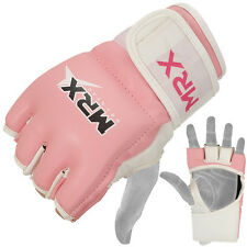 MRX MMA Gloves Ladies Kickboxing UFC Cage Grappling Women Fight Glove Pink