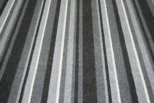 Grey Black Stripe Quality Striped Carpet Any Size! Any Room! Free Postage!