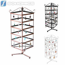 Songmics 6 Tier Rotating Jewelry Display Stand Earring Necklace Holder Organizer