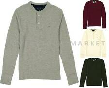 NEW MEN'S TOMMY HILFIGER THERMAL HENLEY LONG SLEEVE SHIRT! VARIETY SIZES COLORS!