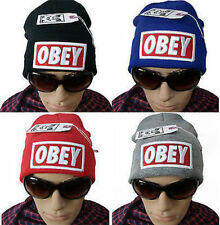 Unisex Men Obey Bboy HipHop Caps Beanies Skull Baseball Hats