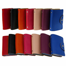 Genuine Leather ID Credit Business Card Holder Wallet Pocket Purse For 26 Cards