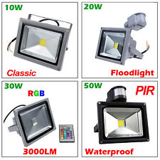 IP65 LED Bombillas 10W 20W 30W 50W RGB Outdoor Landscape Garden Flood Light Lamp