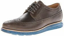 Cole Haan Dark Gull Grey Seaport Men's Lunargrand Long Wing Oxford Shoes