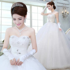 Fashion Slim Women Pregnant Wedding Dress Lace-up Strapless Empire Bridal Gown