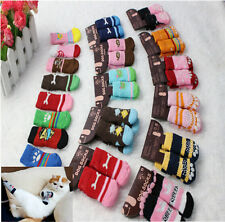3sizes Anti-slip knitted dog cat socks cotton cats dogs injured protective shoe.