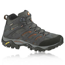 Merrell Mens Moab Black Mid Gore-Tex Waterproof Trail Walking Hiking Boots Shoes