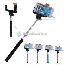 Handheld Wired Remote Selfie Stick Monopod Extendable Pole Holder For Cell Phone