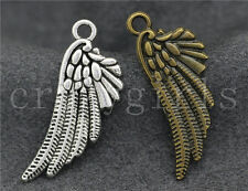 20pcs Antique Silver/Bronze Bird Wings Charms Pendant Fit DIY Making 29x11mm