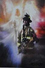 "DA1154 Fire Fighter Danny Hahlbohm 12""x16"" framed or unframed print art"